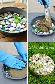 metal decorative garden stepping stones ebay plastic resin
