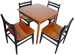 game table and chairs set danish modern game table set chairish