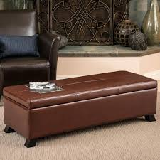 Black Leather Storage Ottoman Well Turned Black Leather Storage Ottoman Coffee Table Ideas Pine