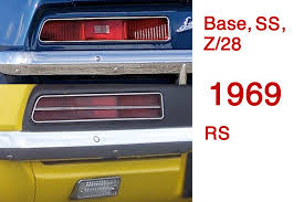 1969 camaro tail lights at a glance how to spot differences in first gen camaro