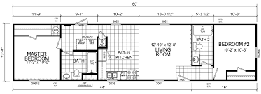 Floor Plans For Mobile Homes Single Wide Flora 14 X 60 799 Sqft Mobile Home Factory Expo Home Centers