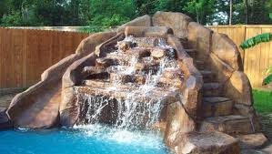 diy pool waterfall backyards made bettercustom pool waterfall and slide