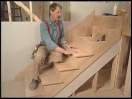 how to install butted treads and risers build stairs youtube