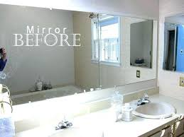 Frames For Bathroom Mirrors Lowes Frameless Bathroom Mirror Image Of Wall Mirror Supplies Frameless
