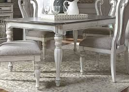 antique dining room tables and chairs magnolia manor antique white 108