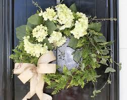 hydrangea wreath hydrangea wreath etsy