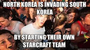 North Korea South Korea Meme - north korea is invading south korea by starting their own