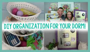 diy organization for your dorm room decor dorm life hack youtube