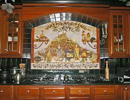 kitchen mural backsplash kitchen tile mural custom kitchen tile mural backsplash idea