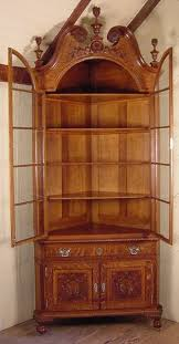 vintage corner china cabinet centennial chippendale oak corner china cabinet