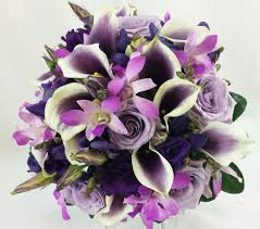 lavender and purple wedding bouquets bb0974 shades of purple