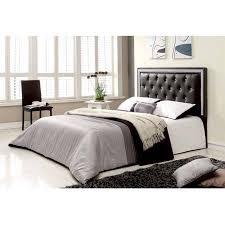 best master furniture tufted vinyl upholstered headboard black or