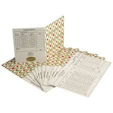 two table progressive tally bridge tally cards set of 12 harlequin design simon lucas bridge