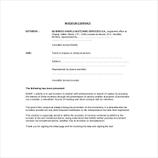 14 investment agreement templates u2013 free sample example format