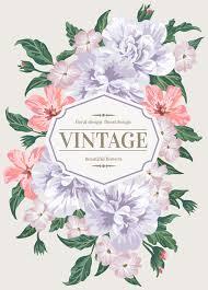 vintage cards beautiful flowers with vintage card vectors 01 graphika