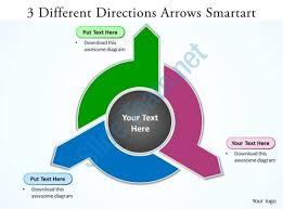 smartart templates powerpoint 3d circular arrows process smartart