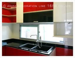 Red Gloss Kitchen Cabinets Hi Gloss Cabinet Panel Kitchens Ayara Decoration Line 1656