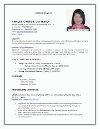 exle of resume for application resume format resume template ideas