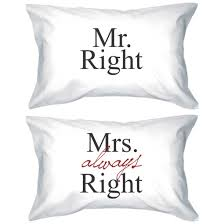 his and hers pillow cases pajamas mr and mrs mr right and mrs always right matching couples
