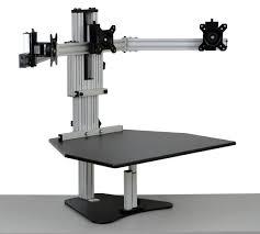 kangaroo tri elite adjustable height desk ergo desktop