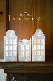 holiday winter paper crafts diy dutch house luminaries tutorial
