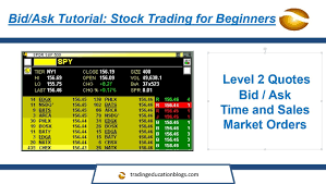 bid and ask bid ask tutorial stock trading for beginners