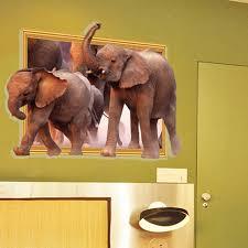 popular elephants window wall decor home buy cheap elephants