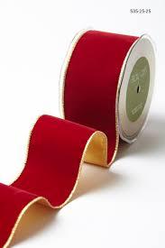 velvet ribbon 2 5 inch velvet ribbon with gold backing may arts wholesale ribbon