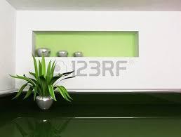 une plante dans une chambre scène du design intérieur avec une plante dans la chambre vide