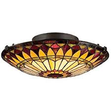 Quoizel Ceiling Light Quoizel Tf1396svb Tiffany Round Glass Flush Mount Ceiling