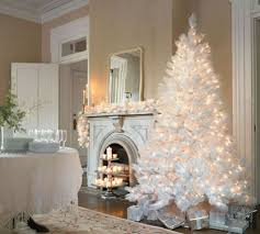 8 beautifully decorated white trees