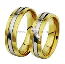titanium wedding rings for men gold plated titanium engagement rings for men and women