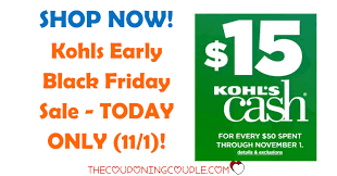 kohls early black friday sale today only shop now