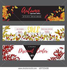 autumn sale poster cards banner brochureflyer stock vector