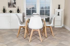 White Square Kitchen Table by Retro 70 U0027s Style White Square Kitchen Dining Table Wooden Leg