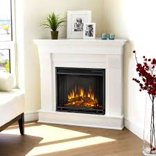 Chateau Corner Electric Fireplace Mantel Package In White 5950e W