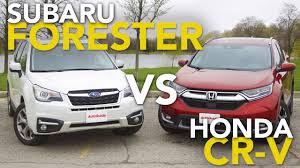 compare honda crv to subaru forester 2017 subaru forester vs honda cr v comparison test