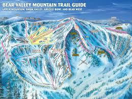 Sierra Nevada Mountains Map Bear Valley Trail Map