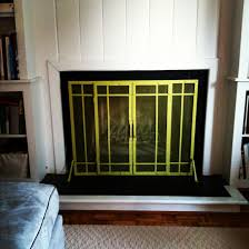 Yellow Fireplace by Home Hungie Gungie