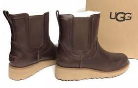 uggs womens boots on ebay ugg australia slim britt chestnut leather wedge womens ankle