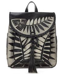 patricia nash cuban carved collection jovanna tasseled backpack in