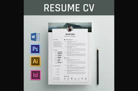 resume word template free 50 eye catching cv templates for ms word free to