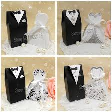 wedding gift box ideas free shipping 200pcs and groom wedding candy boxes gift box