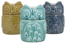 kitchen canisters and jars bristol owl canisters set of 3 contemporary kitchen canisters