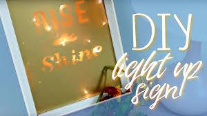 diy light up sign affordable u0026 hipster decor youtube
