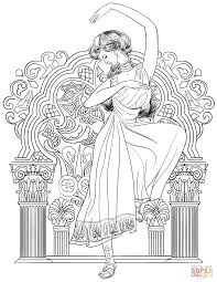 greek woman dance coloring page free printable coloring pages