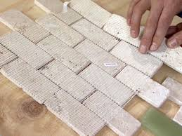 How To Install Kitchen Backsplash Glass Tile How To Install A Limestone And Glass Tile Wall How Tos Diy
