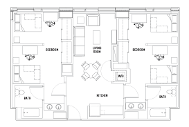 2 bed 2 bath floor plans 2 bed 2 bath shared bedroom suite c the summit at