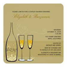 couples shower chagne bubbles wedding couples shower square paper invitation card