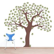 wall decals for nursery tree large maple leaf tree wall decal wall